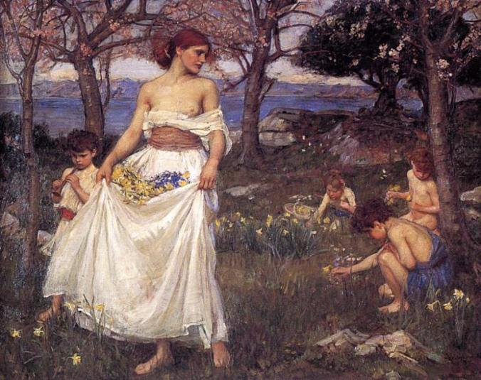 A song of Springtime by John William Waterhouse c. 1913