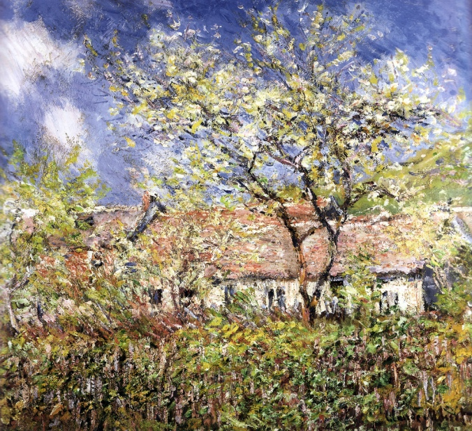 Springtime at Giverny by Claude Monet c. 1886