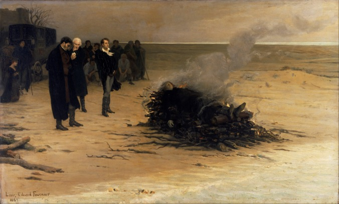 Cremation of Shelley by Louis Edouard Fournier