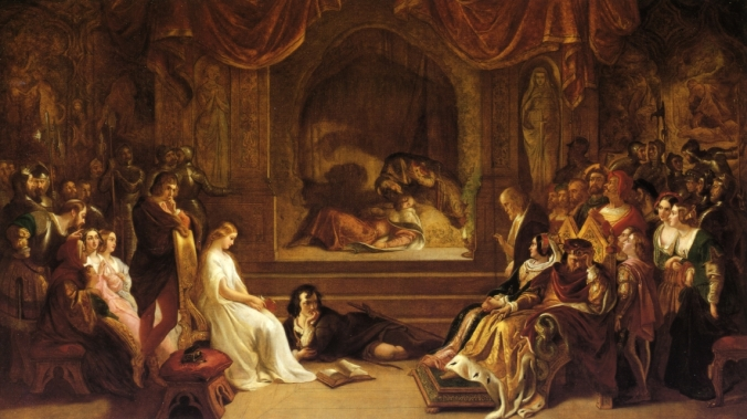 Play Scene from Hamlet by Daniel Maclise