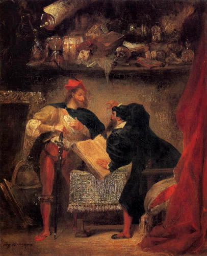Mephisto before Faust by Eugene Delacroix