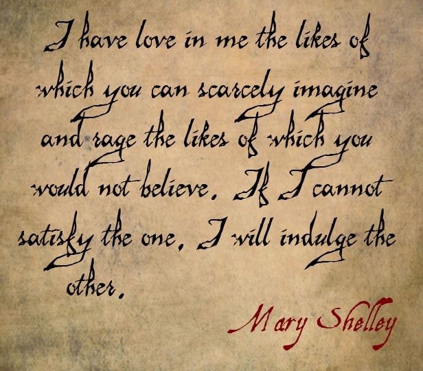 Excerpt from Mary Shelley's Frankenstein