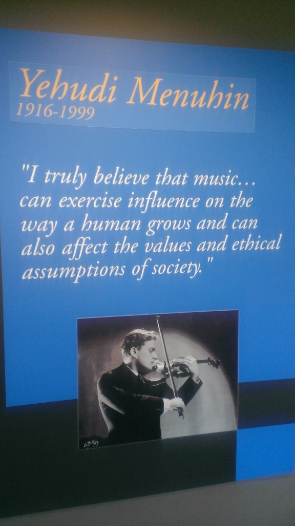 Poster at the performance hall of Yehudi Menuhin School