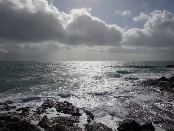Porthleven - dramatic skies and sea