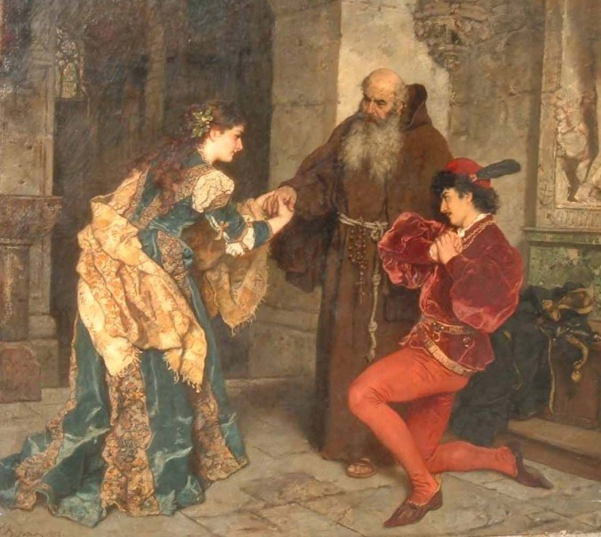 Romeo and Juliet before Father Lawrence by karl Ludwig Friedrich Becker