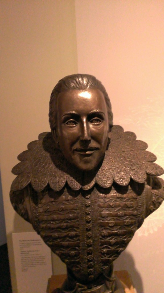 Shakespeare's bust at the Birthplace House