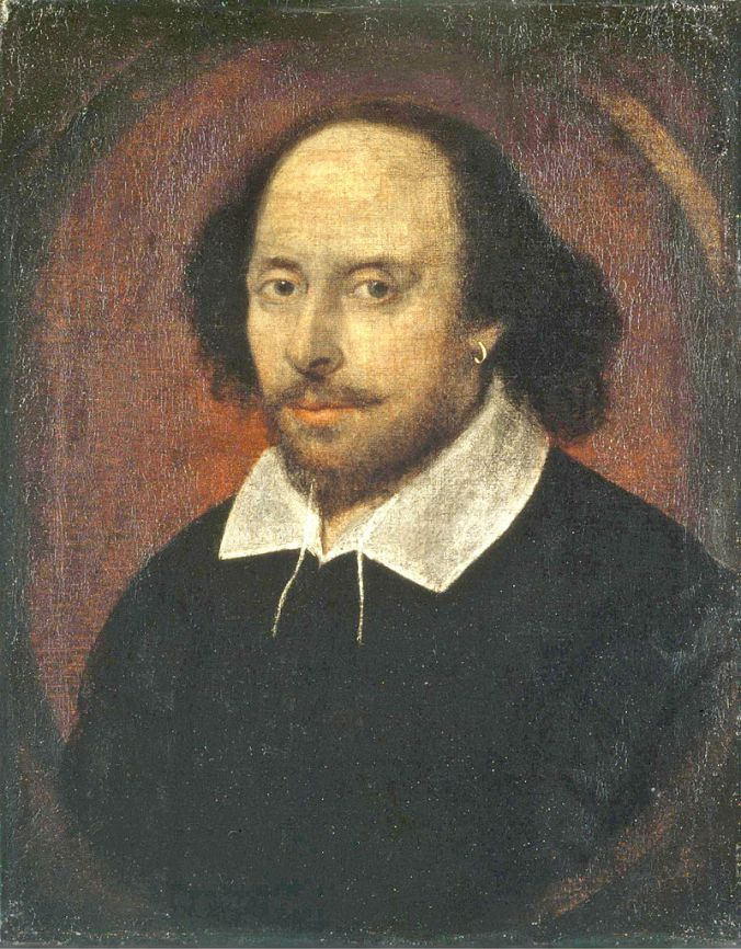 William Shakespeare - The 'Chandos' portrait, artist unknown