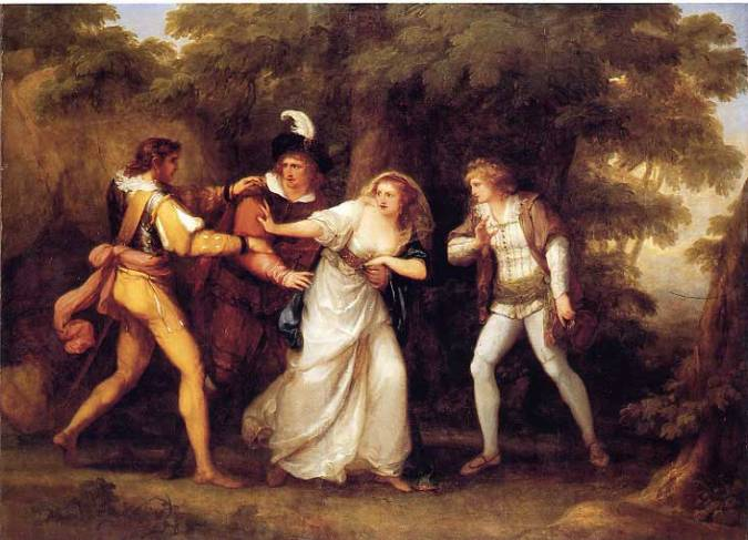 Valentine Rescues Silvia in The Two Gentlemen of Verona c. 1789