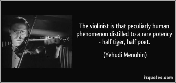 Yehudi Menuhin violin quote