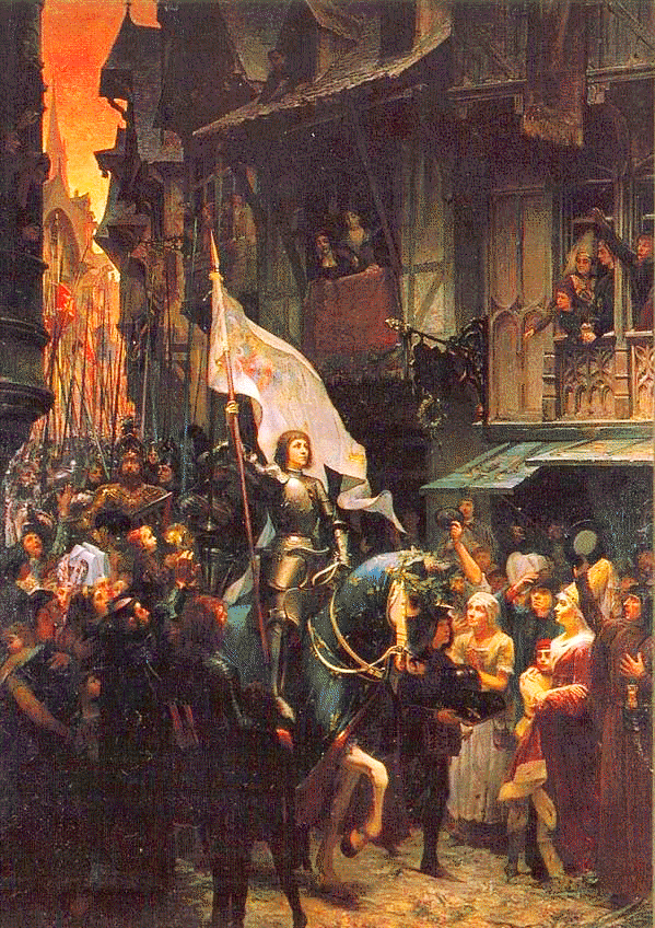 Joan of Arc riding into Orleans by Jean-Jacques Scherrer