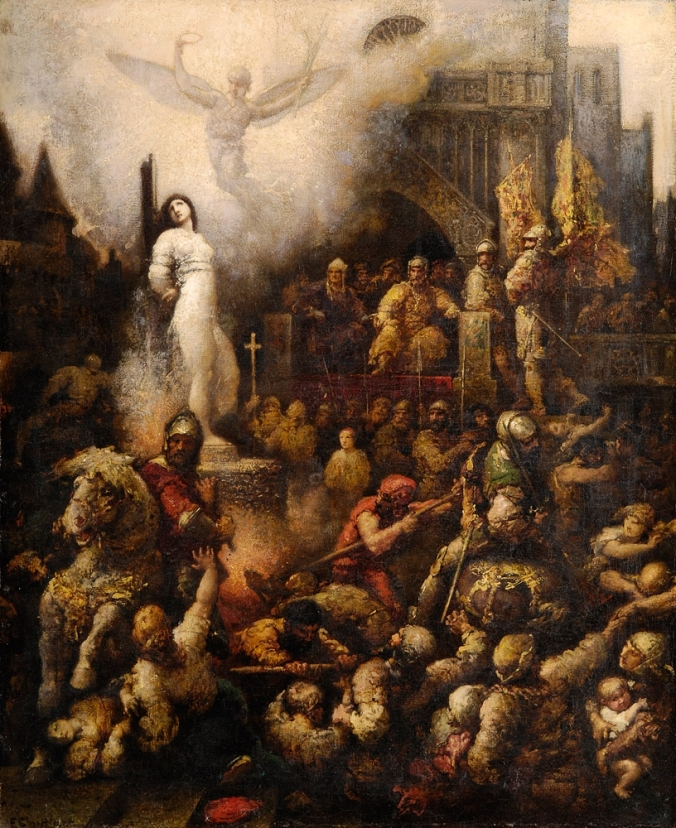 Joan of Arc at the stake by Francois Chifflart