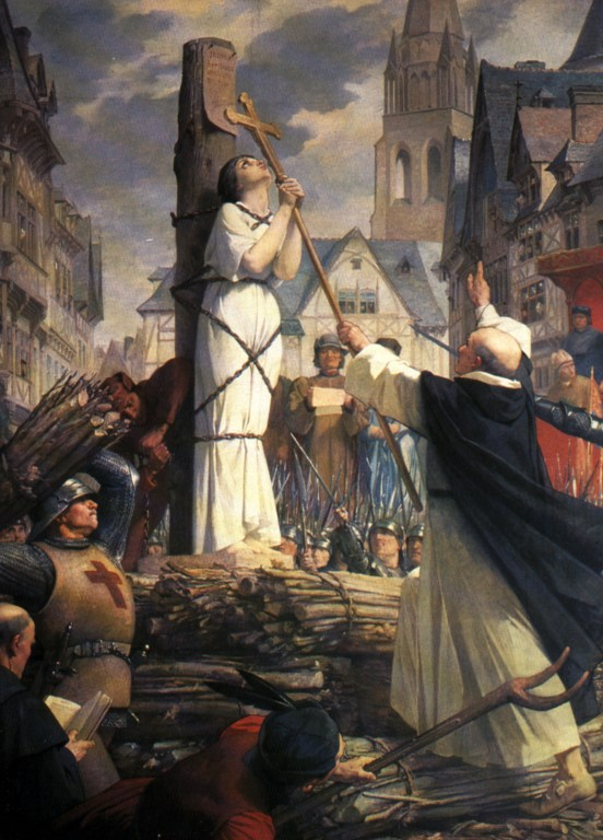 Joan of Arc at the stake by Jules Eugène Lenepveu.