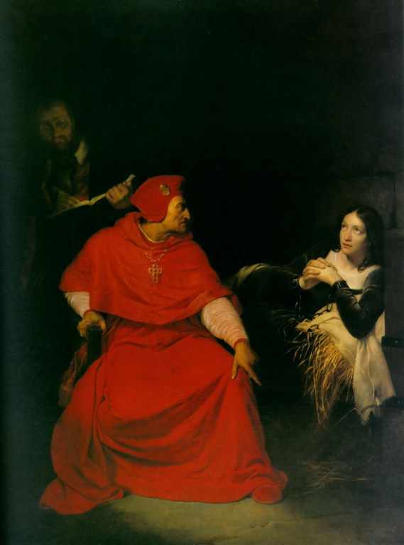 The interrogation of Joan of Arc by Paul Delaroche c. 1824