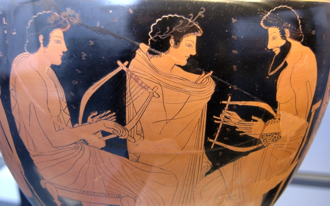Music - Ancient Greek vase - music lesson