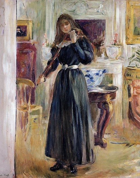 Berthe Morisot - The artist's daughterplaying the violin