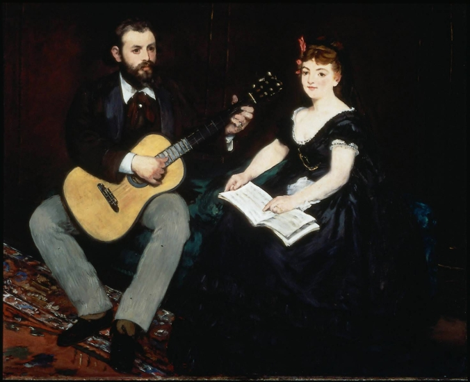The Music Lesson by Manet c. 1868