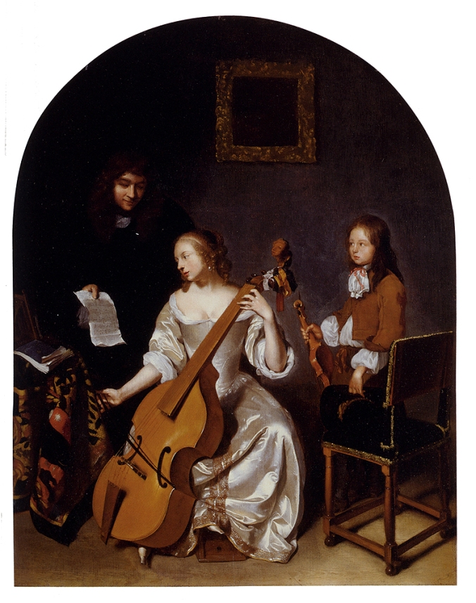 The Music Lesson by Caspar Netscher