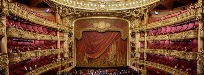 Opera - stage curtain