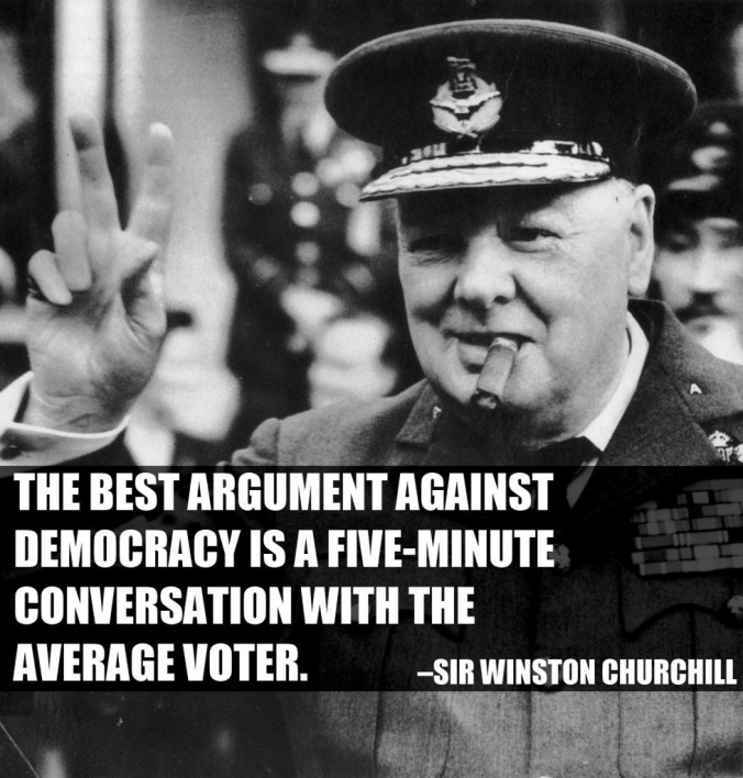 Brexit - Churchill Democracy Quote
