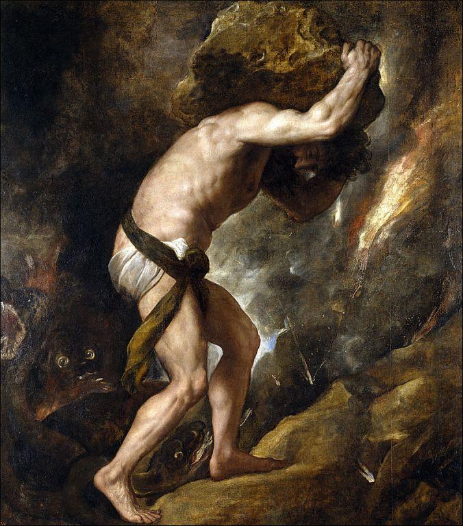 Sisyphus by Titian, c. 1548-49