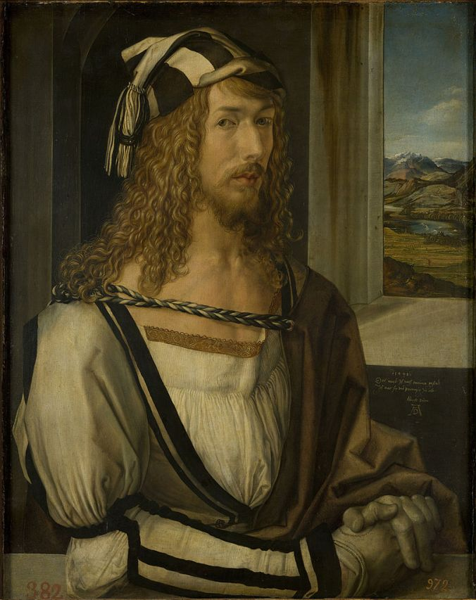 Self Portrait c. 1498 by Albrecht Dürer in the Prado, Madrid