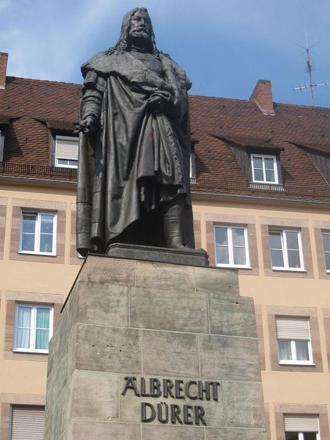 Albrecht Dürer statue in Nuremberg