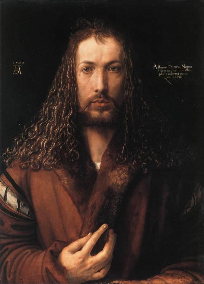 Self-Portrait c. 1500 by Albrecht Durer, Alte Pinakothek