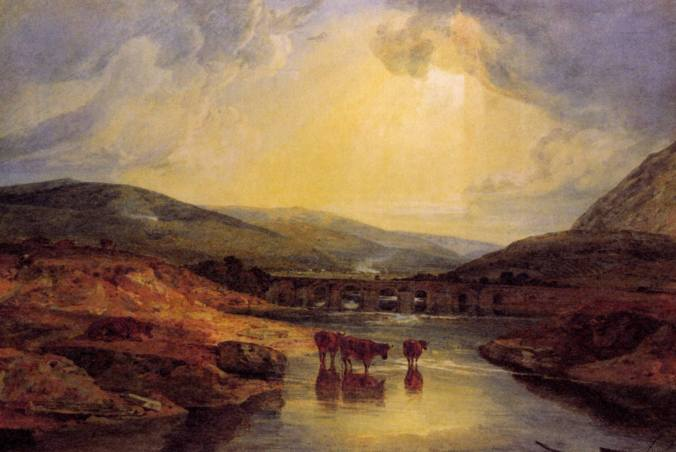 Abergavenny Bridge Monmouthshire by JMW Turner