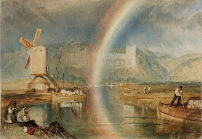 Arundel Castle on the River Arun, with a Rainbow c. 1824-5 Joseph Mallord William Turner 1775-1851 Accepted by the nation as part of the Turner Bequest 1856