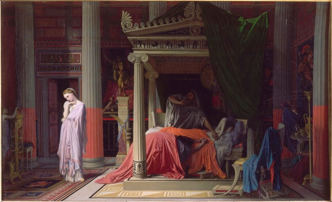 The Illness of Antiochus from Antiochus and Stratonice by Jean Auguste Dominique Ingres