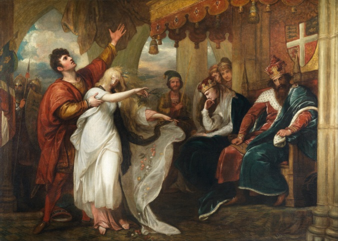 Hamlet - Act IV Scene V - Ophelia Before the King and Queen by Benjamin West