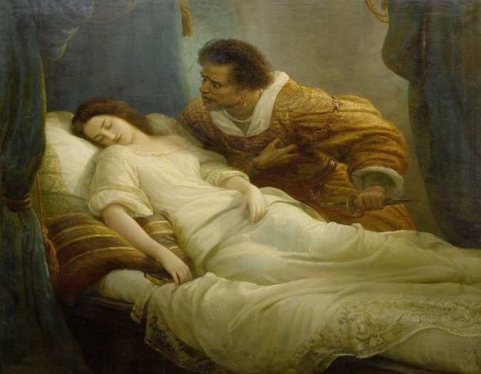 Othello and Desdemona by Christian Köhler