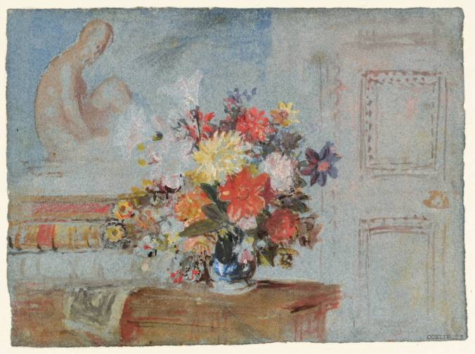 The Old Library: A Vase of Lilies, Dahlias and Other Flowers 1827 Joseph Mallord William Turner 1775-1851 Accepted by the nation as part of the Turner Bequest 1856