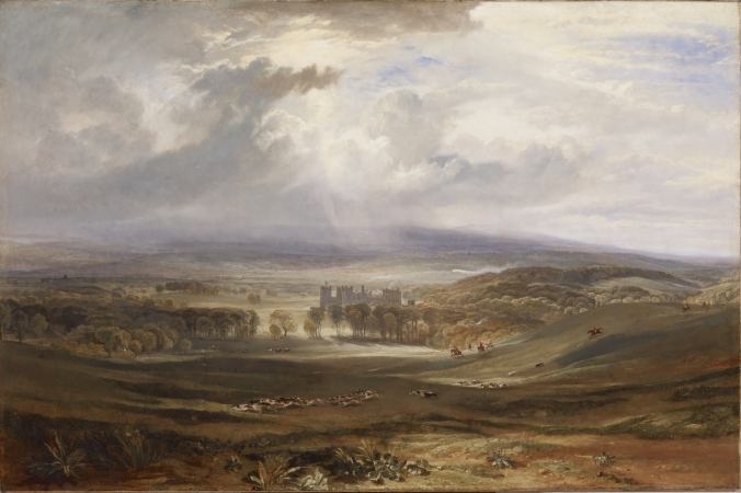 Raby Castle, the seat of the Earl of Darlington, by JMW Turner