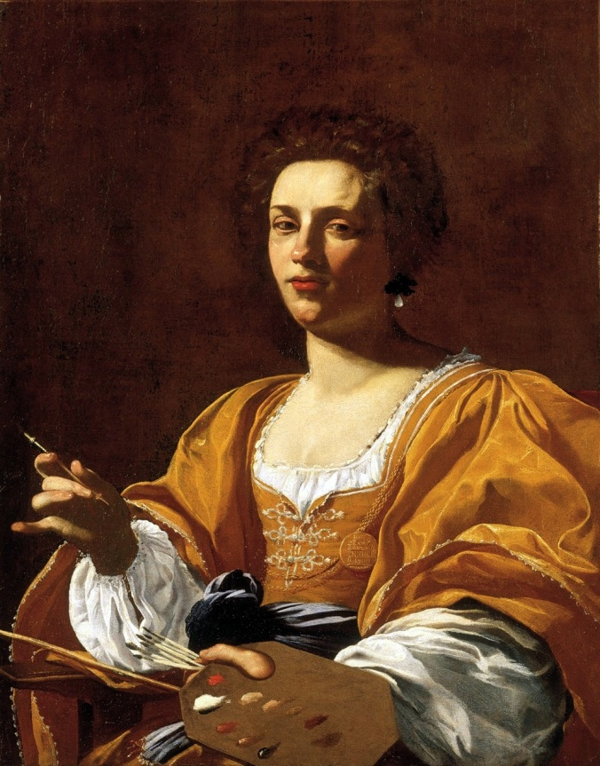 Portrait of Artemisia Gentileschi c. 1623 - 26 by Simon Vouet