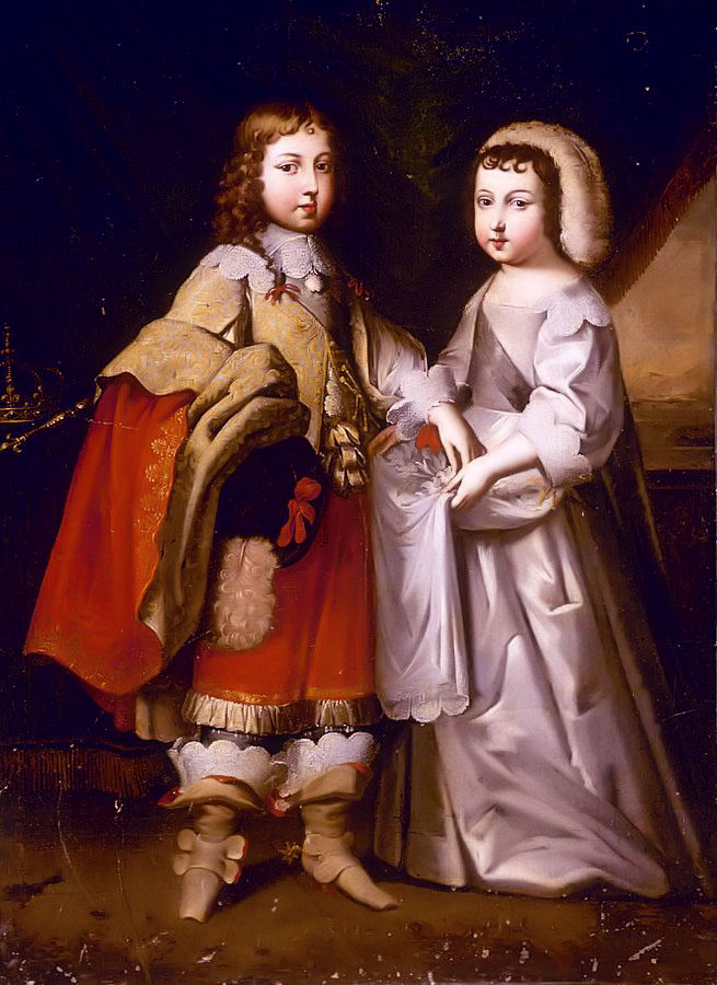 Portrait Of King Louis XIV and his Brother Philippe I, Duke of D'Orleans