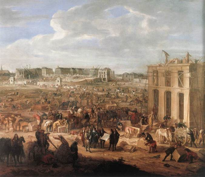 Construction of the Chateau Versailles by Adam Frands van der Meulen