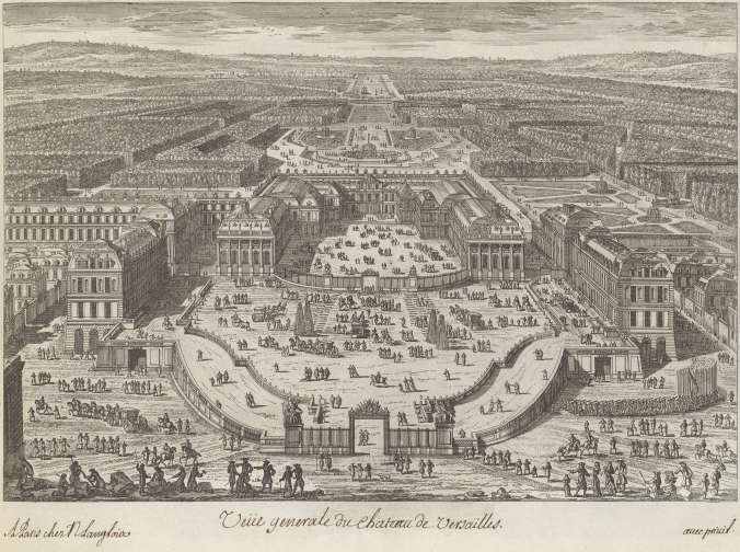 General view of the Palace of Versailles c. 1680s by Adam Perelle