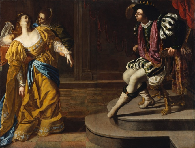 Esther_before_Ahasuerus c. 1628 - 35 by Artemisia Gentileschi