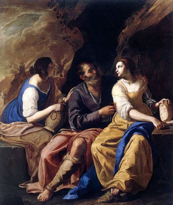 Lot and his Daughters by Artemisia Gentileschi