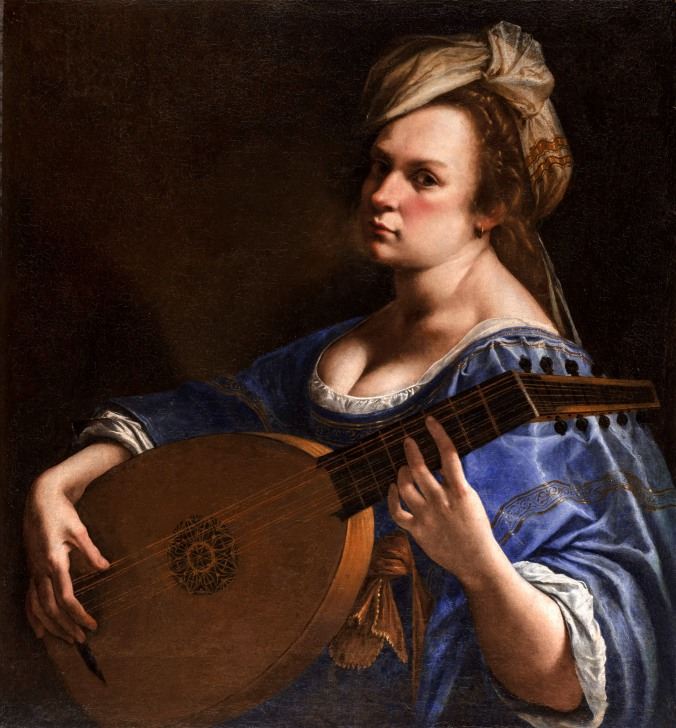 Self-portrait as a Lute Player c. 1615 - 17 by Artemisia Gentileschi
