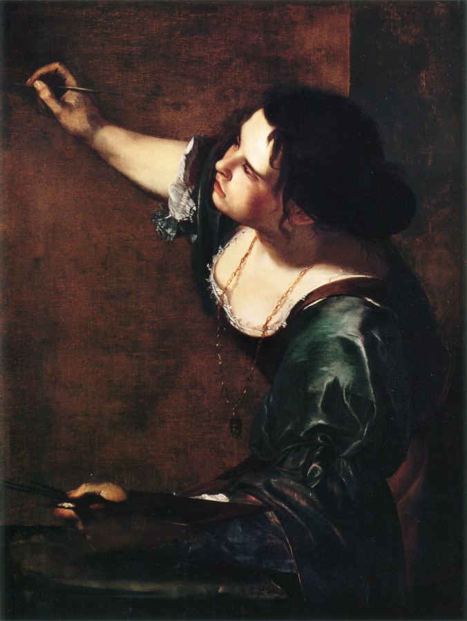 Self-portrait as the Allegory of Painting by Artemisia Gentileschi. Thought to have been in the collection of Charles I.