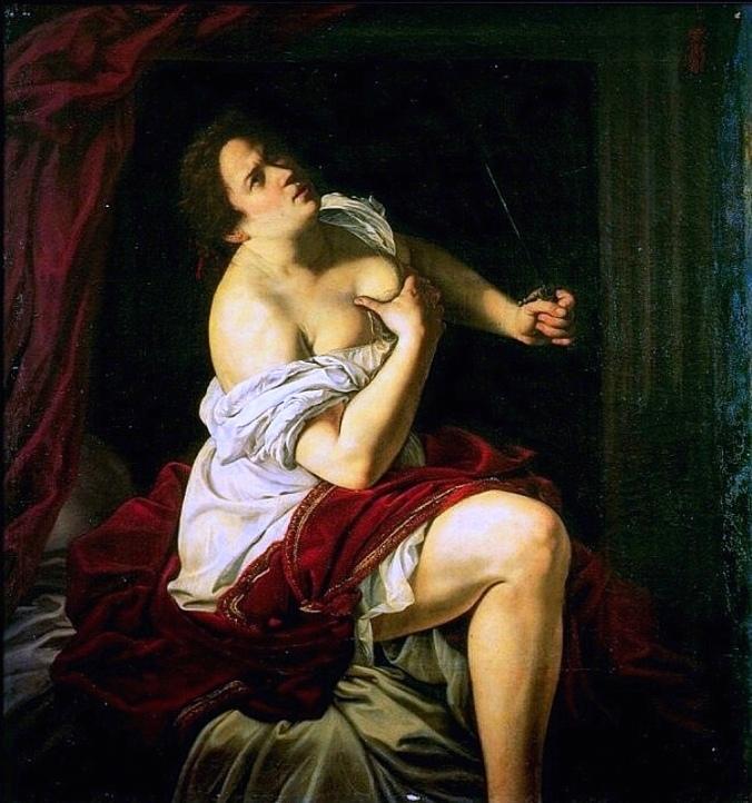 Lucretia c. 1620 -21 by Artemisia Gentileschi