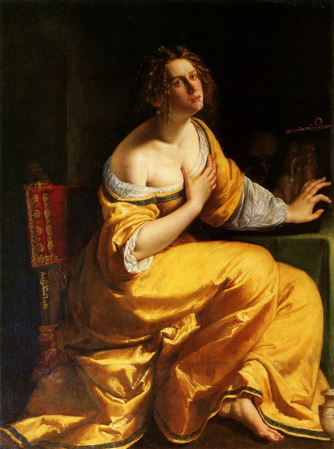 The Penitent Mary Magdalen c. 1615 - 16 by Artemisia Gentileschi