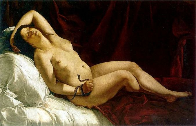 Cleopatra by Artemisia Gentileschi