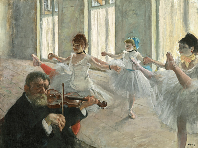 The Rehearsal by Edgar Degas