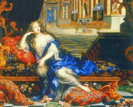 Françoise-Athénaïs de Rochechouart de Mortemart, marquise de Montespan, at the château de Clagny c. 1670 by Henri Gascar