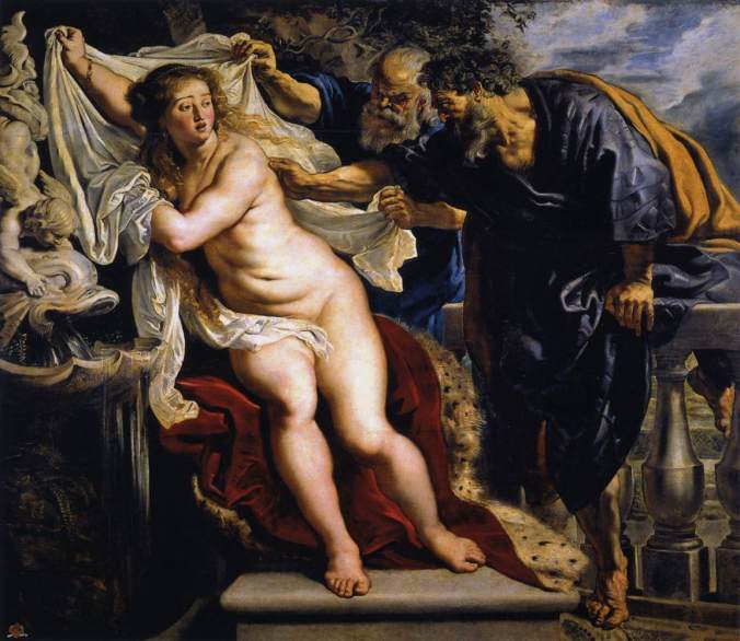 Susanna and the Elders by Peter Paul Rubens, also painted in 1610