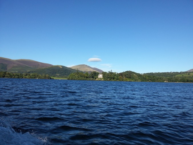 Low-flying cloud over Derwentwater!