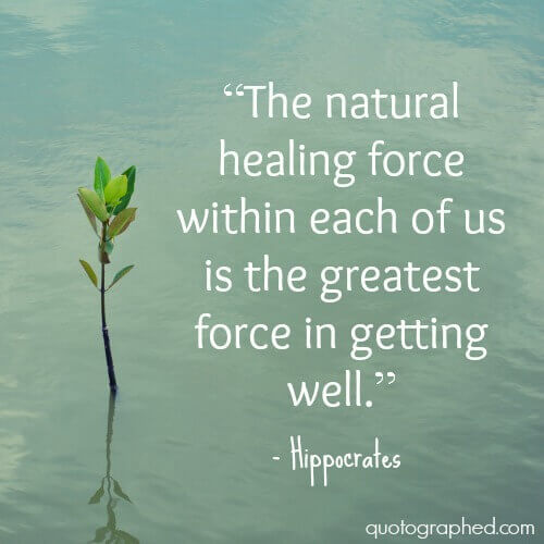 the healing power of nature hippocrates Principle that disease arises from natural causes7 while doctors were  on  asklepios' healing power, included bathing, sacrifices, dream.